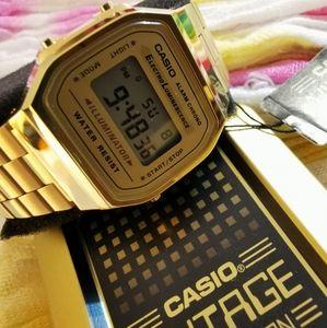 Casio A168WG-9EF unisex gold plated digital watch